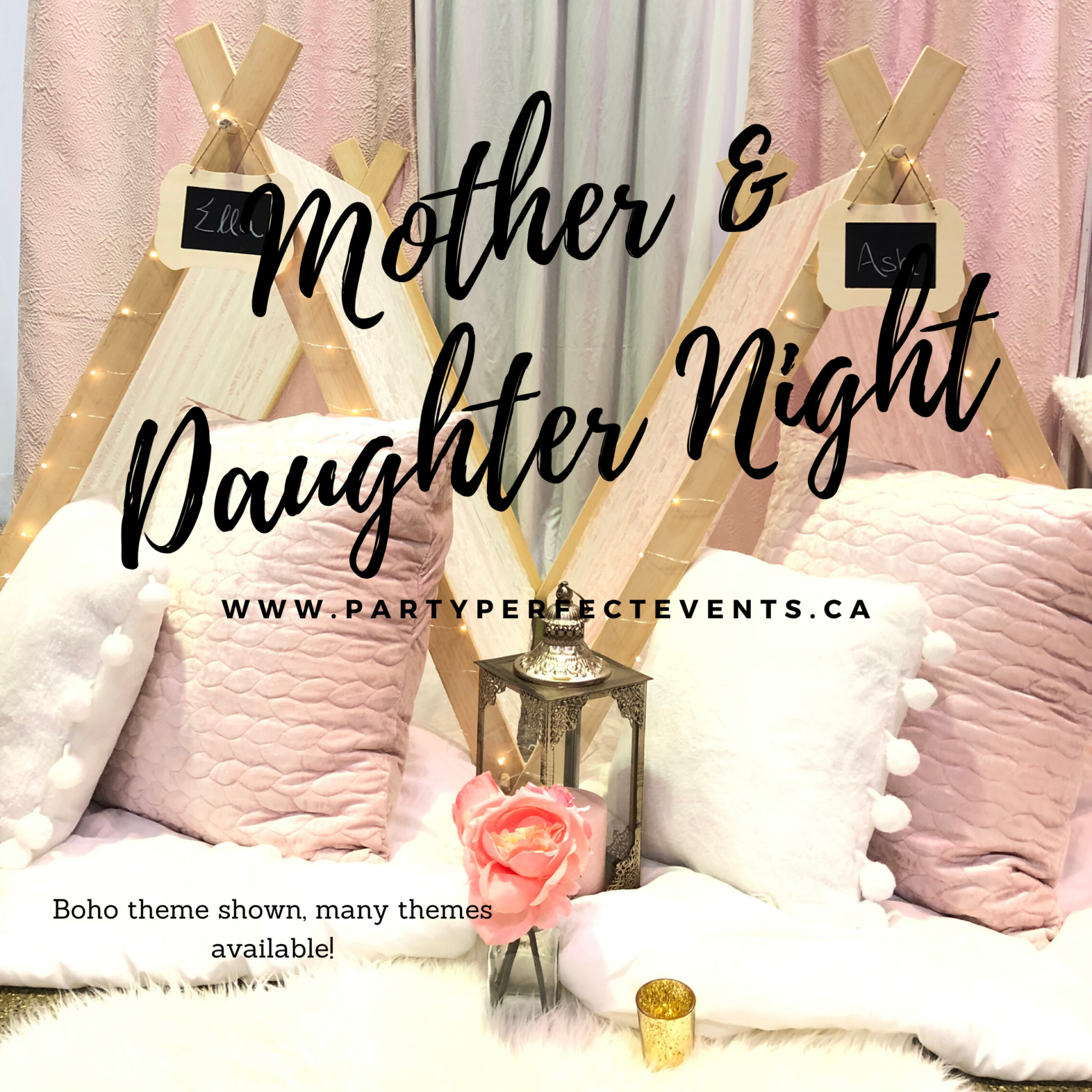 Kids Glamping Sleepover Party Mother Daughter
