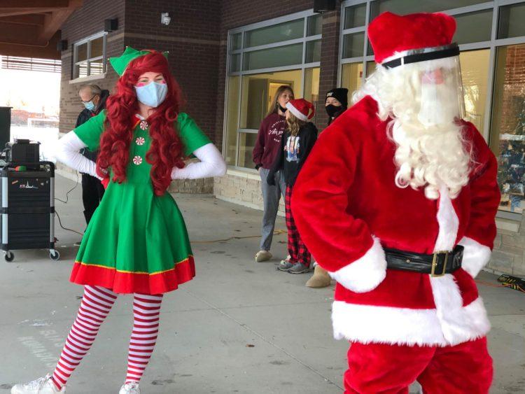 Elf and Santa